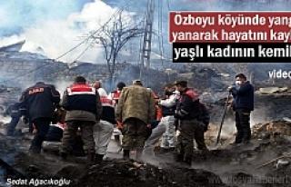 Tosya'da Yangında hayatını kaybeden yaşlı kadının...