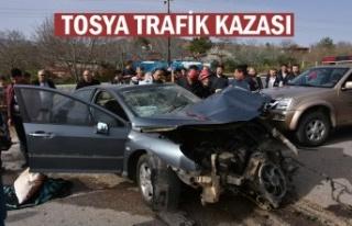 TOSYA-ÇANKIRI KAVŞAĞI TRAFİK KAZASI 1 ÖLÜ 1...