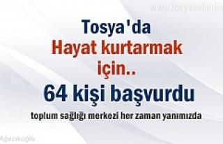Tosya'da 64 kişi hayat kurtamak için bağışda...