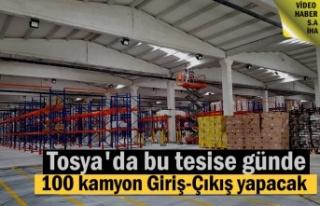 Tosya'da günde 100 kamyonun giriş-Çıkış...