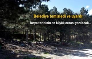 Tosya'da çevreye çöp ve katı atık bırakanlara...