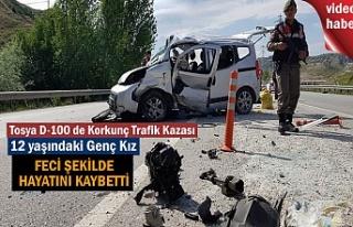 Tosya'da Trafik Kazasında 12 yaşındaki kız çocuğu...