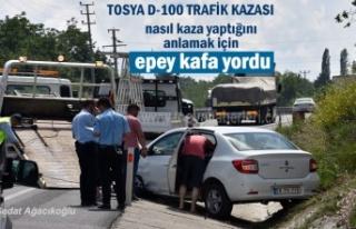 Tosya D-100'de meydana gelen Trafik Kazasında...
