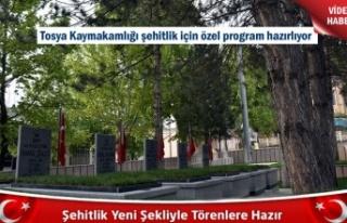 Tosya'da yeniden düzenlenen Şehitlik için...