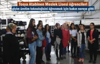 Tosya'da Öğrenciler Giyim Üretim Teknolojisini...