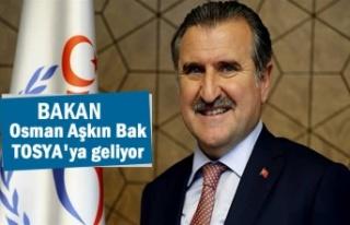 Gençlik ve Spor Bakanı Dr. Osman Aşkın Bak Tosya'ya...