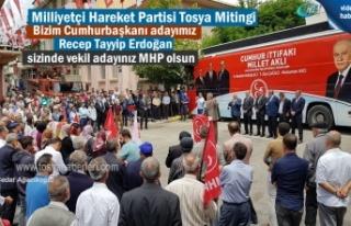 Milliyetçi Hareket Partisi Tosya'da düzenlediği...