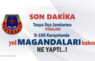 Tosya D-100'da Yol Magandaları 1 kişiyi darp...
