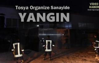 Tosya Organize Sanayide Fabrikada Yangın meydana...