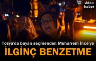 Tosya'da kutlama yapan seçmenden Muharrem İnceye...