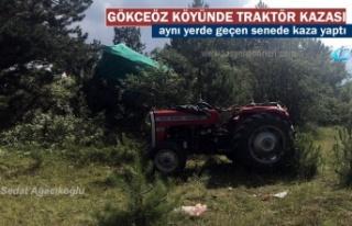 Tosya'da Traktör Kazasında 1 kişi yaralandı