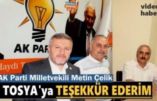 AK Parti Kastamonu Milletvekili Metin Çelik Tosya...