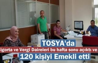 Tosya'da Cumartesi ve Pazar Günü SGK ile Vergi...
