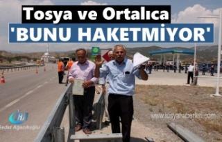 Tosya'da Jandarma Destekli Karayolları Ekipleri...