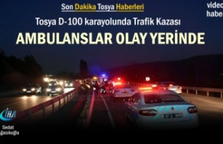 Tosya D-100 Karayolunda Trafik Kazası Ambulanslar...