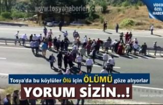 Tosya'da Ölen kişiyi gömmek için Ölümü...