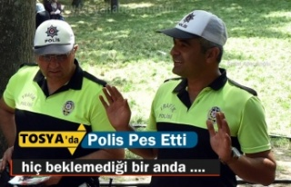 Tosya'da Trafik Polisi Pes Etti