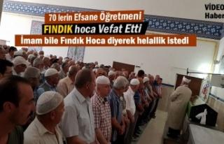 Tosya'nın Efsane Öğretmeni Fındık Hoca Vefat...