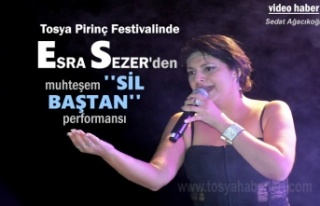 Tosya Pirirnç Festivalinde Esra Sezer'den ''Sil...