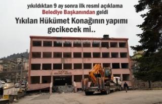 Yıkılan Tosya Hükümet Konağı İnşaatı İlk...