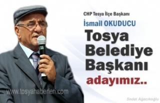 CHP TOSYA İLÇE TEŞKİLATI BELEDİYE BAŞKANI ADAYINI...