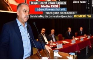 İşadamı Metin Ekşi Meslek Yüksek Okulu Panelde...