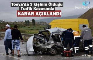 Tosya'da 19 Mayıs Tarihinde Trafik Kazası Mahkeme...