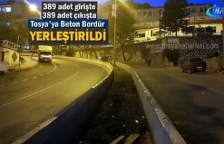 Tosya'da Bölünmüş Yol ve Bordür Çalışmasında...