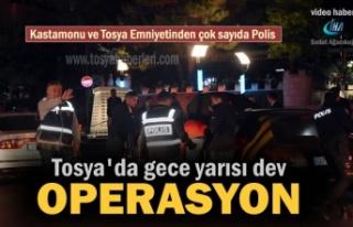 Tosya'da Emniyet ve KOM ekiplerinden Asayiş...