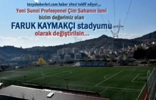 Teklif ve Talep Ediyoruz Tosya Stadyumuna ''Faruk...