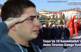Tosya'da 10 Kasım Atatürk'ü Anma Programında...