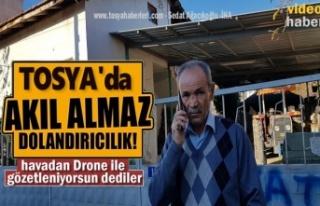 Tosya'da Bir Kişiye Havadan Drone ile Gözetleniyorsun...