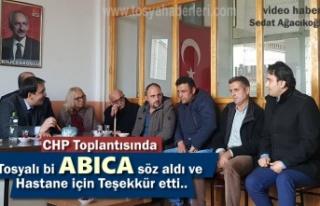 CHP Tosya İlçe Başkanlığı Toplantısında Hastane...
