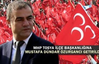 MHP Tosya İlçe Başkanlığı görevine Mustafa...