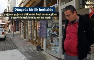 Tosya Esnafı Dükkan Bodrumlarına akan yağmur suyuna...