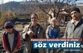 Tosya'da Evi Yanan Köylü ve Ailesi Verilen Sözlerin...