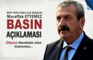 MHP Tosya Eski İlçe Başkanı Muvaffak Etyemez Basın...