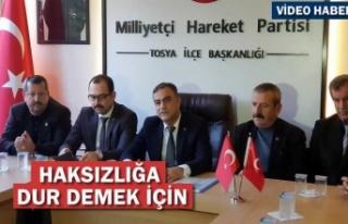 MHP Tosya İlçe Başkanı Tosya Belediye Yönetimine...