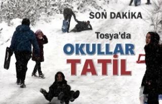 Son Dakika ''TOSYA'DA YARIN OKULLAR...