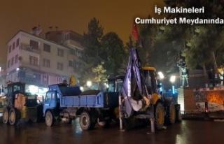 Tosya Belediyesi Kar Yağışına Karşı Tedbir Aldı