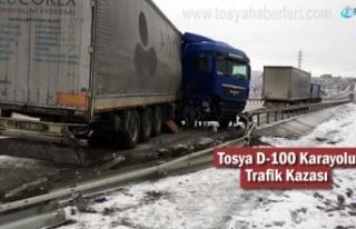 Tosya D-100 Karayolunda Kar ve Sis sonrası Trafik...