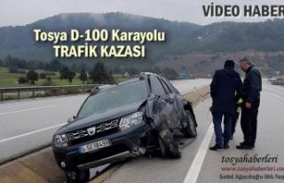 Tosya D-100'de Trafik Kazası 1kişi Yaralı