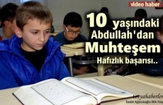 Tosya'da 10 Yaşında Hafızlığa Başladı...