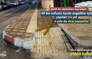 Tosya'da Görme Engelli Yoluna Viraj Yaptılar