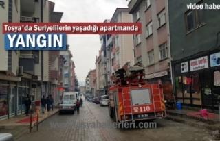 Tosya'da Suriyelilerin Yaşadığı Apartmanda Yangın...
