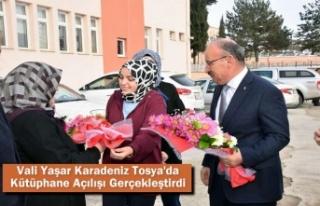 Vali Yaşar Karadeniz Tosya'da Kütüphane Açılışı...