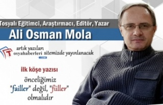 Ali Osman Mola Köşe Yazıları ile Artık Haber...