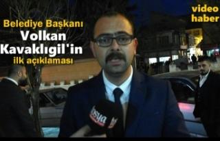 Belediye Başkanı Volkan Kavaklıgil İlk açıkalmasını...