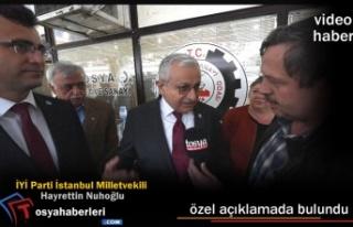 İYİ Parti İstanbul Milletvekili Özel Açıklama