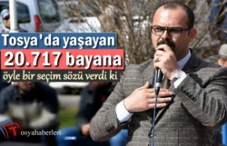 MHP Tosya Belediye Başkanı Adayından Bayan Seçmene...